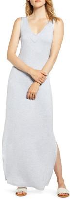 Bobeau Ansel Tie Back Jersey Maxi Dress