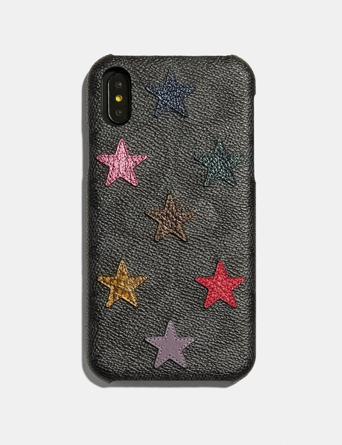Coach Iphone Xr Case In Signature Canvas With Star Print