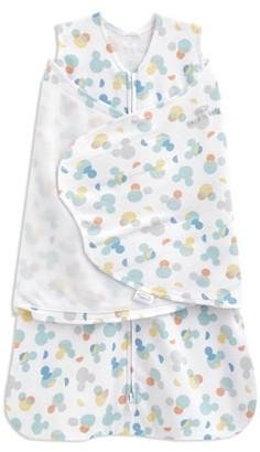 Halo SleepSack swaddle 100% cotton, Disney Baby confetti Mickey overlay, newborn