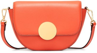 Oryany Lottie Saddle Crossbody - Orange
