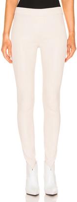 REMAIN Snipe Leather Legging in Egret | FWRD