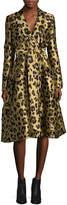 Carolina Herrera Women's Cheetah Jacquard Coat