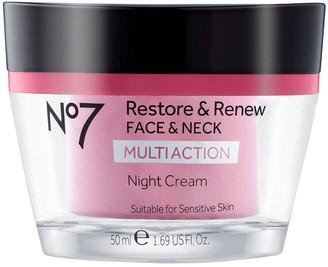 No7 Restore & Renew Face & Neck Multi Night Cream