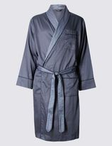 Marks and Spencer Pure Cotton Slim Fit Dressing Gown