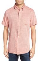Grayers Men's Moby Trim Fit Print Summer Twill Sport Shirt