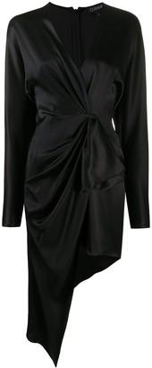 Cushnie Draped Asymmetric Silk Dress