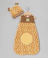 Baby Aspen BA15003GR - Born To Be Wild - Giraffe Snuggle Sack and Hat