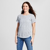 Jillian Nicole Women's Pointelle Stitch Shortsleeve Pullover