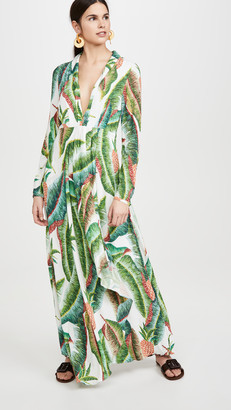 Farm Rio Forest Palm Maxi Dress