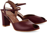 Maryam Nassir Zadeh Burgundy Leather Iris Sandals