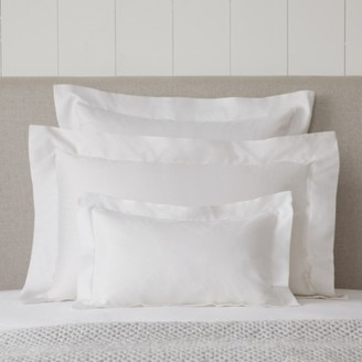 The White Company Connaught Breakfast Oxford Pillowcase, Chalk, Rectangle
