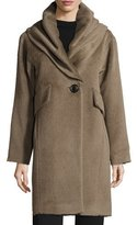 Derek Lam 10 Crosby Oversized Hooded Alpaca & Wool Coat, Mink