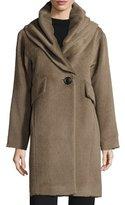 Derek Lam Oversized Hooded Alpaca & Wool Coat, Mink