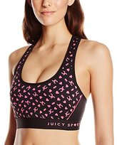 Juicy Couture Black Label Women's Compression Racer Back Bra