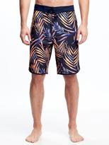 """Old Navy Palm-Printed Board Shorts for Men (10"""")"""