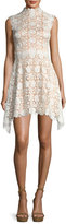 Catherine Deane Izzy Sleeveless Floral Lace Fit-and-Flare Dress