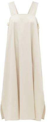 ÀCHEVAL PAMPA Samba Side-tie Cotton-blend Poplin Dress - Beige