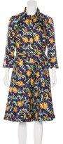 Oscar de la Renta Resort 2016 Floral Print Dress