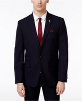 Ben Sherman Men's Slim-Fit Navy Textured Peak Lapel Blazer