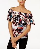 Bar III Ruffled Off-The-Shoulder Top, Only at Macy's