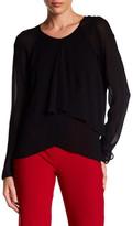 Nicole Miller Layered Long Sleeve Shirt