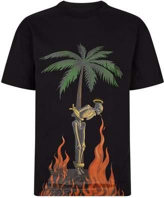 Palm Angels Burning Skeleton T-Shirt