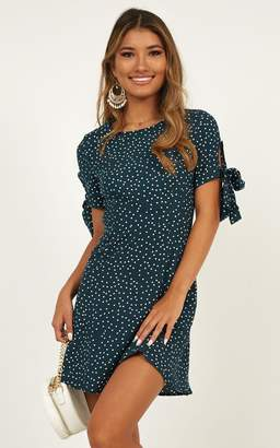 Showpo Too Cute For You Dress In green spot - 16 (XXL) Dresses