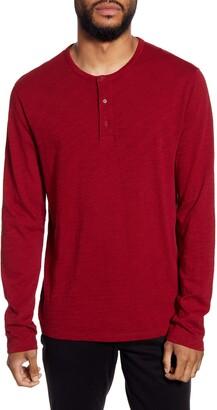 Vince Regular Fit Long Sleeve Henley Shirt