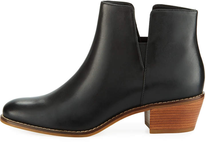 Cole Haan Abbot Grand.OS Leather Cutout Booties, Black