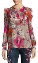 Roberto Cavalli Silk Floral-Print Blouse