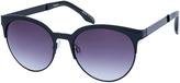 Accessorize Black Metal Half Frame Sunglasses