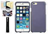 New Iphone 6 Rubber Coating Protective Case, with Screen Protector and Momiji® Stylus Pen, Cleaning Cloth (Purple)