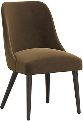 One Kings Lane Barron Side Chair - Walnut Velvet
