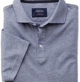 Charles Tyrwhitt Blue and white stripe polo