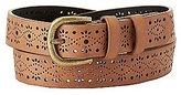 Charlotte Russe Laser Cut Faux Leather Belt