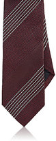 Drakes Drake's Men's Textured-Stripe Silk Necktie-BURGUNDY