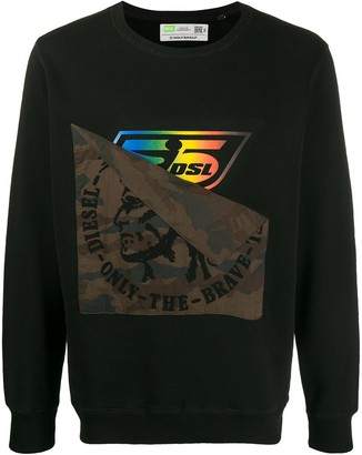 Diesel Upcycled Ribbed Knit Sweater
