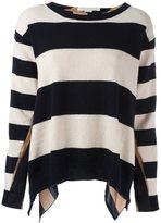 Stella McCartney striped long sleeved top - women - Silk/Cashmere/Wool - 40