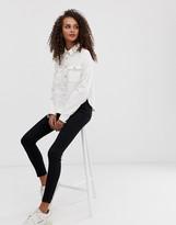 Asos Design DESIGN denim relaxed shirt in white