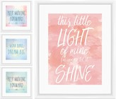 PTM Images Positivity in Words Collage 4-Piece Framed Set