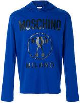 Moschino vinyl logo hoodie - men - Cotton - 46