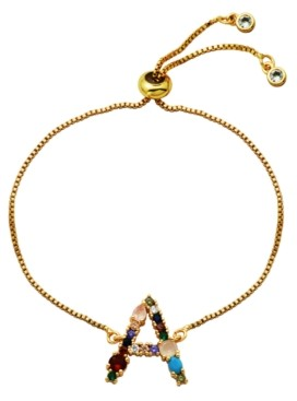 Macy's Multi Color Initial Bolo Bracelet