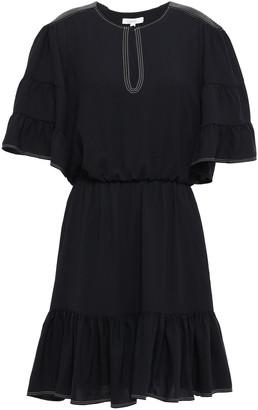 Joie Tersea Gathered Crepe Mini Dress