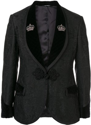 Dolce & Gabbana Floral Jacquard One Button Suit