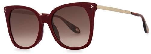 Givenchy Maroon Oversized Sunglasses
