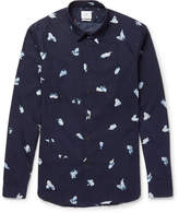 Paul Smith Slim-Fit Printed Cotton-Poplin Shirt