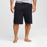 Merona Men's Big and Tall Knit Sleep Shorts Black Tie