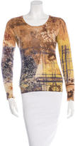 Etro Printed Cashmere & Silk-Blend Sweater