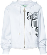 Off-White SOS print zipped hoodie - women - Cotton - S