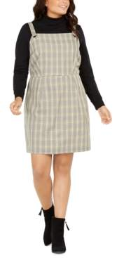 BeBop Trendy Plus Size Plaid Jumper Dress